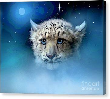 Snow Leopard Cub Canvas Print by Robert Foster
