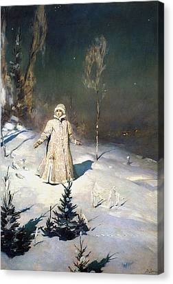 Snow Maiden 1899 By Vasnetsov  Canvas Print by Movie Poster Prints