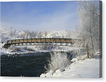 Snow Melt Effects Yampa River, 1 Of 9 Canvas Print by James Steinberg