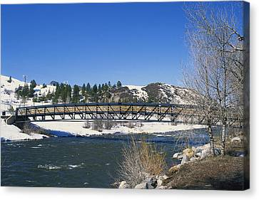 Snow Melt Effects Yampa River, 2 Of 9 Canvas Print by James Steinberg