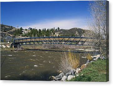 Snow Melt Effects Yampa River, 3 Of 9 Canvas Print by James Steinberg