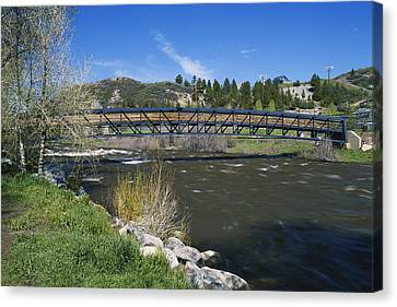 Snow Melt Effects Yampa River, 4 Of 9 Canvas Print by James Steinberg