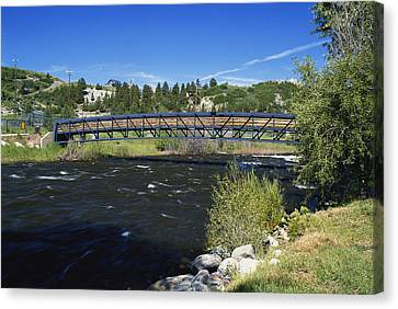 Snow Melt Effects Yampa River, 6 Of 9 Canvas Print by James Steinberg