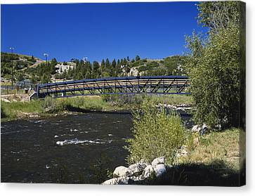 Snow Melt Effects Yampa River, 7 Of 9 Canvas Print by James Steinberg