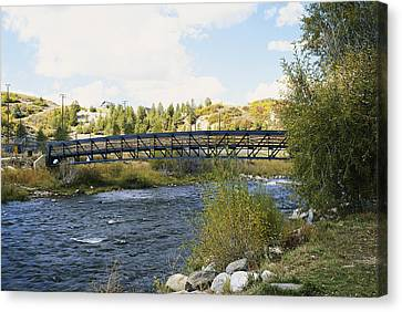 Snow Melt Effects Yampa River, 8 Of 9 Canvas Print by James Steinberg