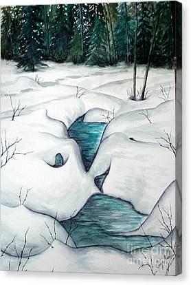 Snow Melt Canvas Print by Joey Nash