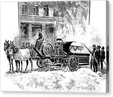 Snow-melting Machine, New York, 1890s Canvas Print