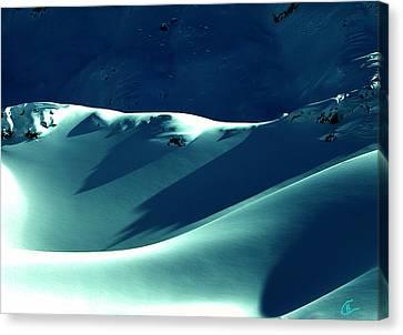 Snow Mountain In Austria  Canvas Print by Colette V Hera  Guggenheim