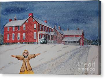 Snow On Cashtown Road Canvas Print