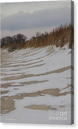 Canvas Print - Snow On The Beach by Tannis  Baldwin