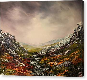 Snow On The Cairngorms Canvas Print by Jean Walker