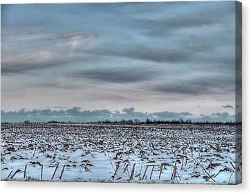 Snow On The Fields Canvas Print