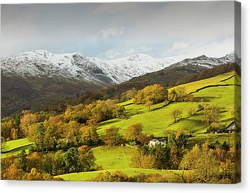 Snow Over Fairfield Canvas Print by Ashley Cooper