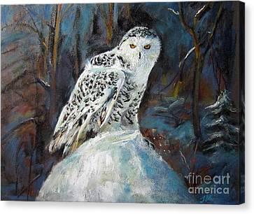 Snow Owl Canvas Print
