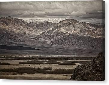 Snow Peaks - Black And White Canvas Print by Stuart Litoff