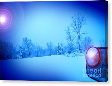 Snow Plow At Thirty Two Below Canvas Print by The Stone Age