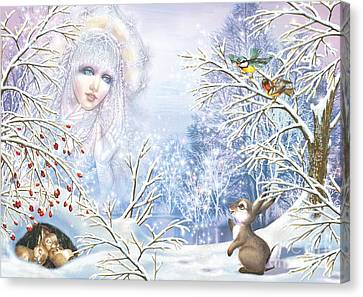 Snow Queen Canvas Print by Zorina Baldescu