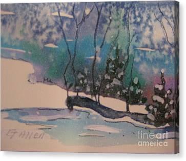 Snow Reflections Canvas Print by Gretchen Allen