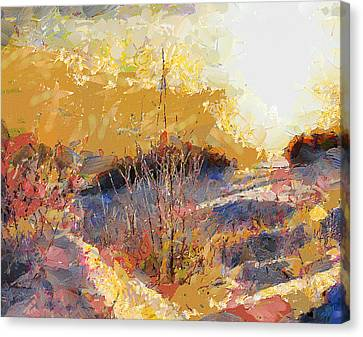 Snow Scape At Sundown Canvas Print by Yury Malkov
