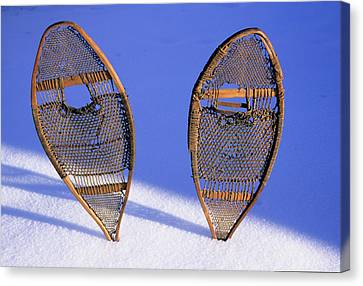 Snow Shoes Were Used By Many Tribes Canvas Print by Angel Wynn