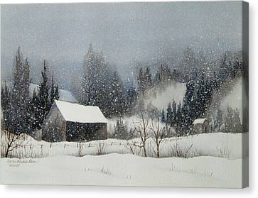 Snow Softly Canvas Print