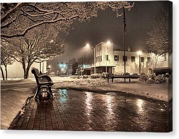 Snow Square - Color Canvas Print