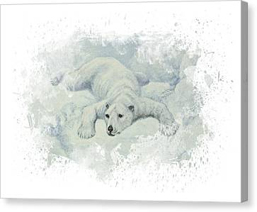 Snow Storm Canvas Print by Aged Pixel