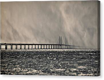 Snow Storm Out At Sea Canvas Print by EXparte SE