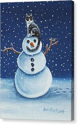 Snow Stormie Canvas Print by Beth Clark-McDonal