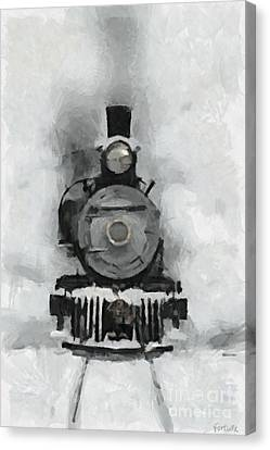 Snow Train Canvas Print