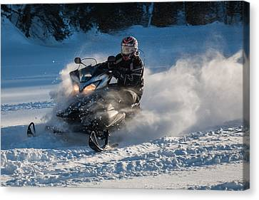 Snow Transport - 21st C Style Canvas Print by Pat Speirs