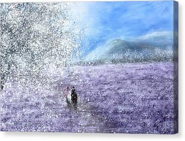 Snow Tree Canvas Print by Kume Bryant