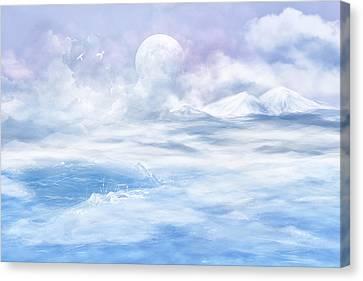 Snow Valley Canvas Print by Nika Lerman