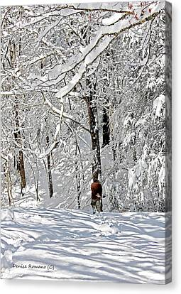 Snow Walking Canvas Print by Denise Romano