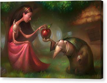 Snow White Canvas Print by Adam Ford