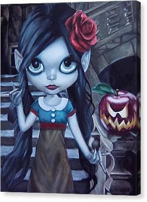 Snow White Canvas Print by Lori Keilwitz