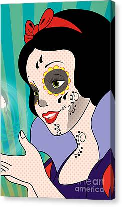 Snow White Mexican Day Canvas Print