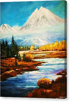 Snow White Peaks Canvas Print