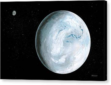 Snowball Earth Canvas Print by Richard Bizley