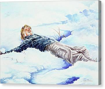 Snowball War Canvas Print