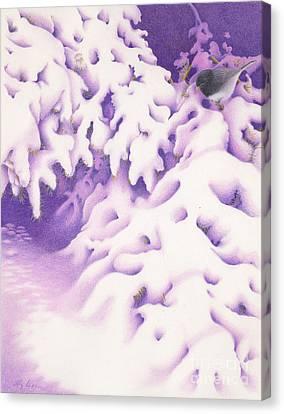 Snowbird Canvas Print by Elizabeth Dobbs