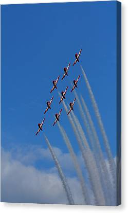 Snowbirds Performing Canvas Print by Matt Dobson