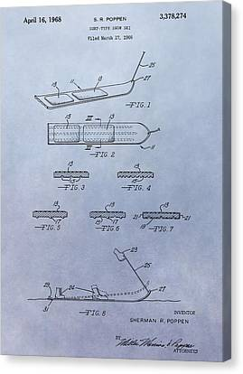 Alpine Canvas Print - Snowboard Patent by Dan Sproul