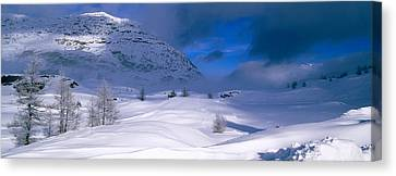 Snowcapped Mountain In A Polar Canvas Print by Panoramic Images