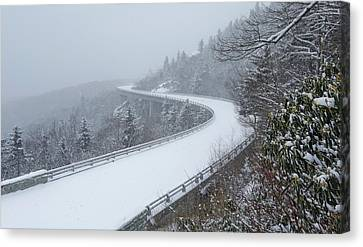 Snowday On The Blue Ridge Parkway Canvas Print