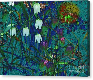 Snowdrops Canvas Print by Kathie Chicoine