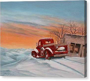 Snowed-in 2 Canvas Print by J W Kelly