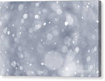 Snowfall Background Canvas Print by Elena Elisseeva