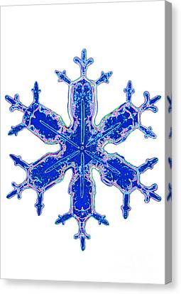 Snowflake Canvas Print by Kent Wood