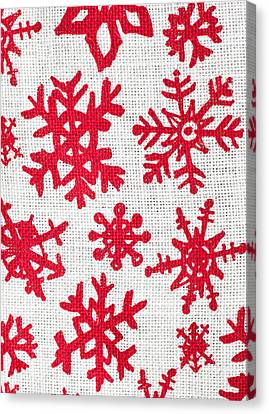 Wrapping Canvas Print - Snowflake Pattern by Tom Gowanlock